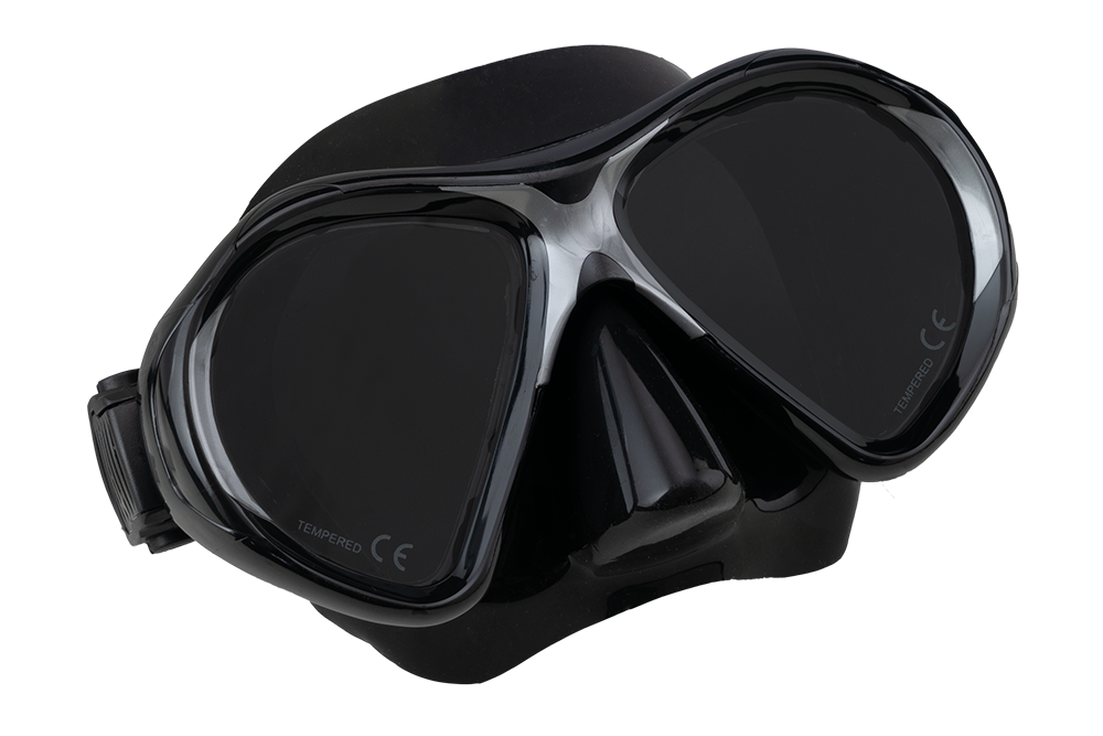 SCUBA FORCE VISION II MASK BLACK-BLACK
