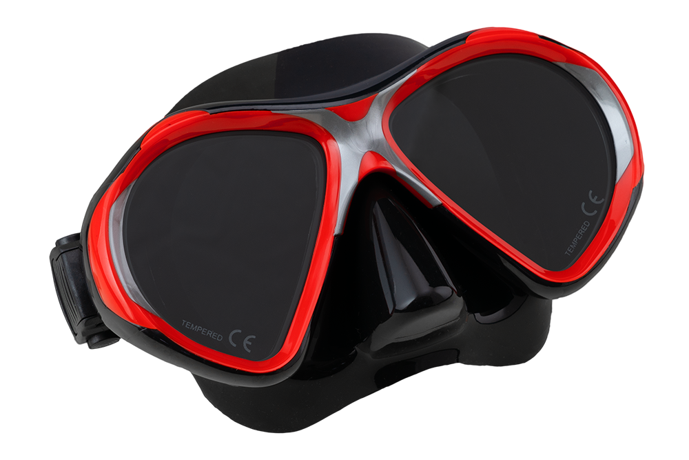 SCUBA FORCE VISION II MASK RED-BLACK