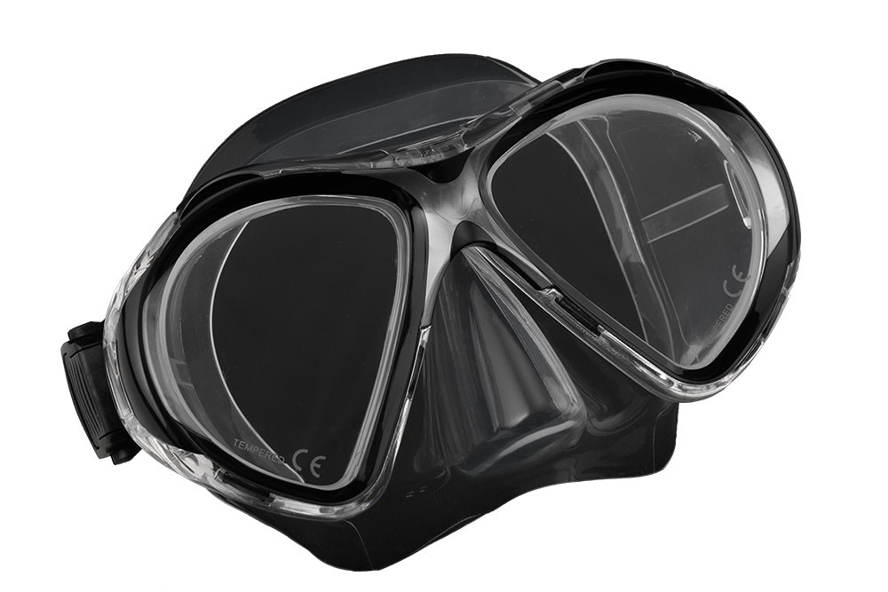 SCUBA FORCE VISION II MASK BLACK-CLEAR