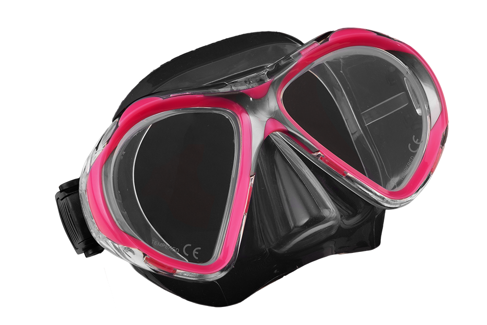SCUBA FORCE VISION II MASK PINK-CLEAR